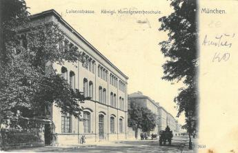The Royal School of Applied Arts in Munich, postcard, 1906