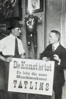 George Grosz and John Heartfield at the 'First International Dada Fair' at Dr. Otto Burchard's, Lützowufer 13, Berlin, 1920. Photo: Robert Sennecke, Akademie der Künste, Berlin, JHA 618/34.1.3.