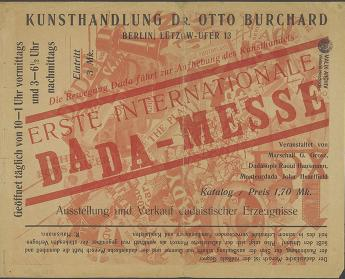 Advertising broadsheet, Berlin, 1920, Berlin. Photo: Akademie der Künste, Berlin, NB wh 5988