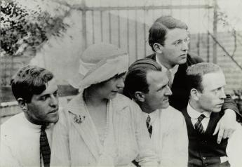 Wieland Herzfelde, Eva and George Grosz, Rudolf Schlichter and John Heartfield, Berlin,1921. Photo: Akademie der Künste, Berlin, JHA 607/23.1.5.