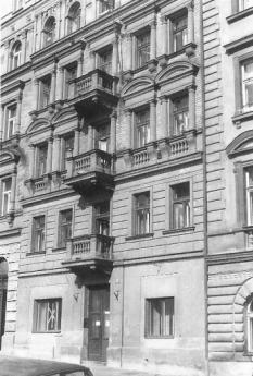 The former office of the AIZ, Prague, Letohradská 42, 1989. Photo: Michael Krejsa