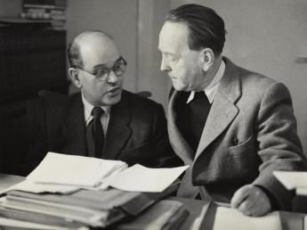 Wieland Herzfelde and John Heartfield, Berlin (East), 1952. Photo: Akademie der Künste, Berlin, JHA 596/12.5.12.