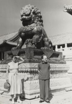 Gertrud and John Heartfield in the Forbidden City, Beijing, 1957. Photo: Eva Siao, The Siao Family, Bejing,  Akademie der Künste, Berlin, JHA 592/8.4.29.